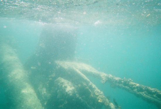 The Antilla: Antilla mast rigging at the surface
