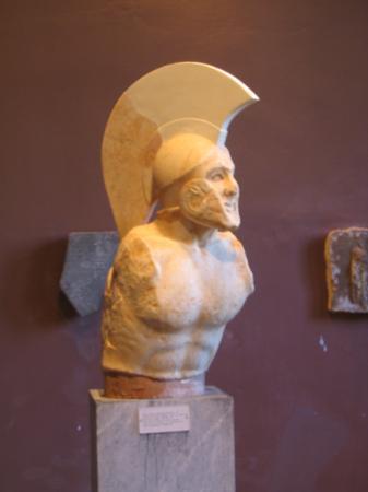 Archaeological Museum of Sparta : Leonidas museum statue