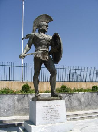 Archaeological Museum of Sparta : Leonidas bronze statue