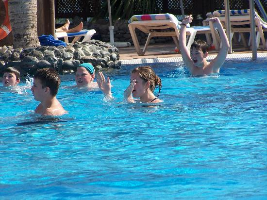BlueBay Beach Club : having a great time playing water polo