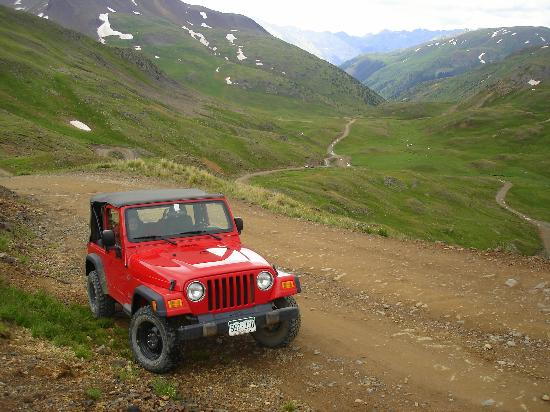 Red Jeep In Green Mountains Picture Of Silver Summit Rv