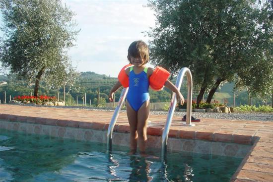 Tenuta di Monaciano: from the pool of Monacianello farmhouse at Monaciano in Tuscany