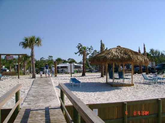 Navarre Beach Camping Resort: View from Pier/Boardwalk