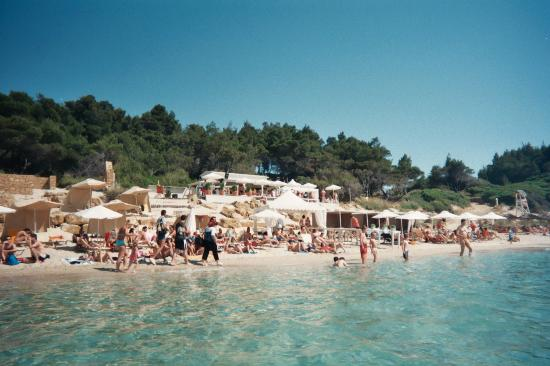 Porto Sani: Bousoulas beach and bar