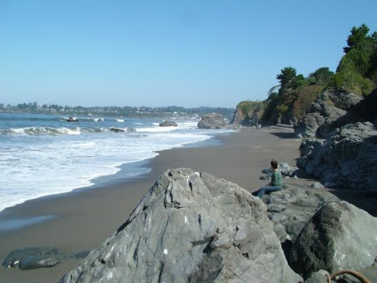 Brookings, Oregón: down the beach a bit