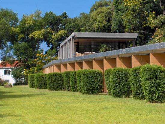 Quinta da Casa Branca: Room patios and reception/deck bar
