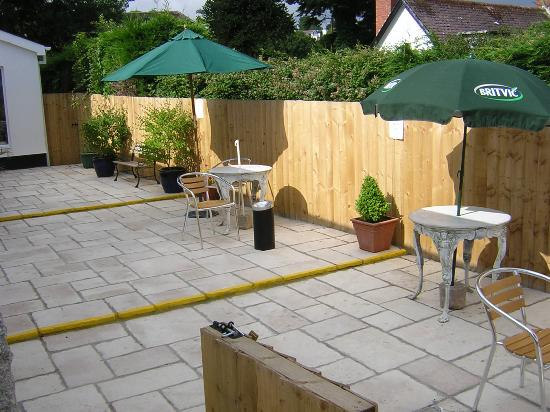 Saundersfoot, UK: Patio Area