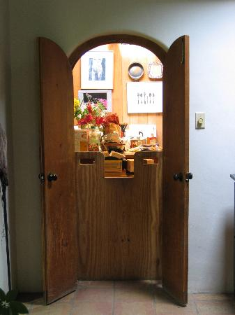 Dunshee's Casita: The only door connecting the B&B area to the main house (Susan's kitchen).