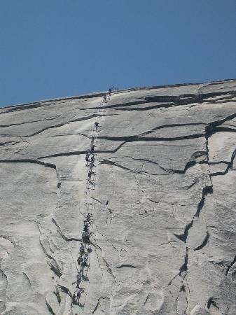 Upper Pines Campground: Half Dome cables