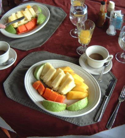 Hotel La Garza: Fresh fruit breakfast