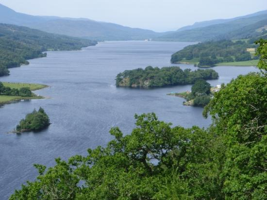 Перт и Кинросс, UK: Queens View from the  Visitor Centre, Pitlochry