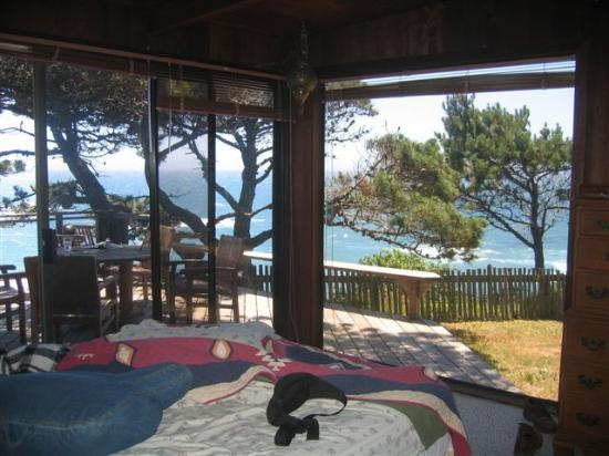 Serenisea Resort Cottages: View from master bedroom
