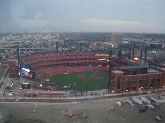 View of Busch Stadium in evening