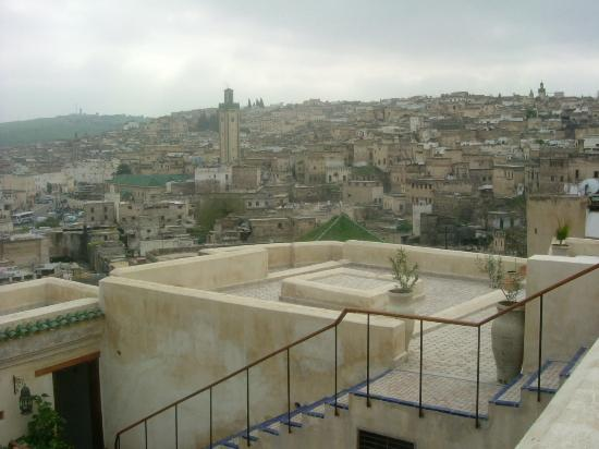Dar Seffarine: the view from the terrace