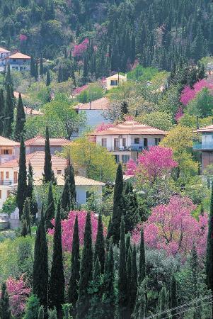Lefkada, Hellas: karya village