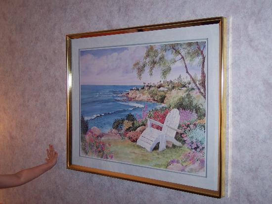Ramada Limited Cockeysville: The picture on the wall.  (My daughter liked it.)