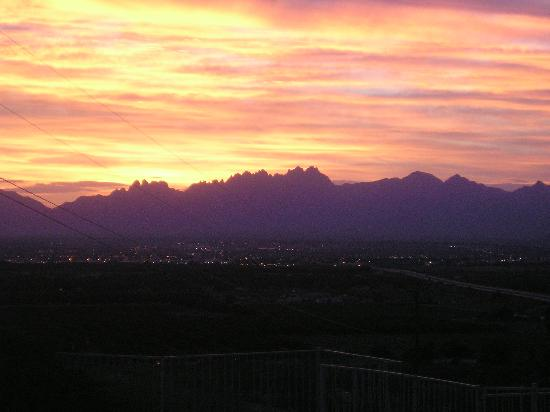 A Lodge on the Desert: sunrise over the organ mtns