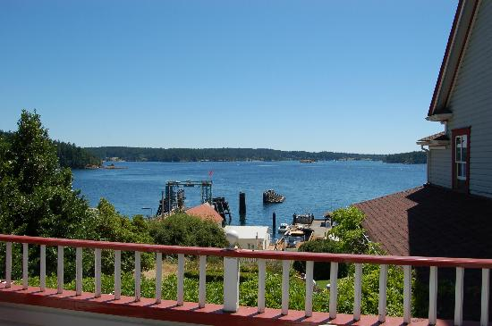 Orcas, WA: The view from the balcony of room 15