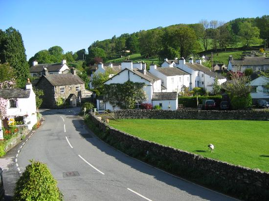 The Tower Bank Arms: View of Near Sawrey from bedroom