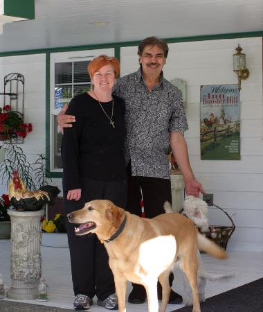 Peggy & Layne with their pups, Harley & CoCo