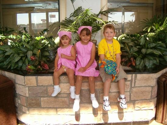 Drury Inn & Suites San Antonio Northwest Medical Center: The kids in the lobby