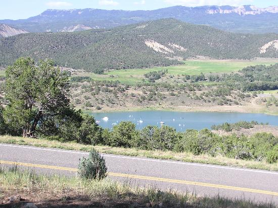 Ridgway State Park: View from site 186