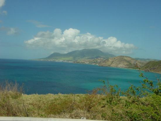 View from beach in St. Kitts