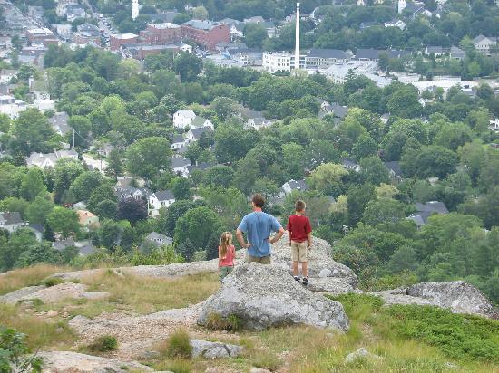 Mount Battie: The family enjoys the views