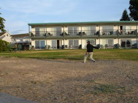 Sea Edge Motel: Horseshoes on the beach
