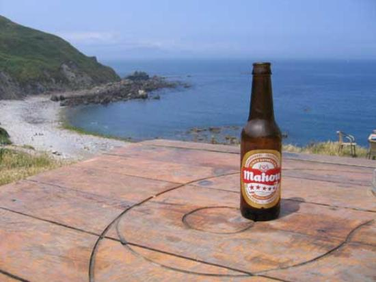 Goizalde: better to drink beer at the beach on the right from hotel
