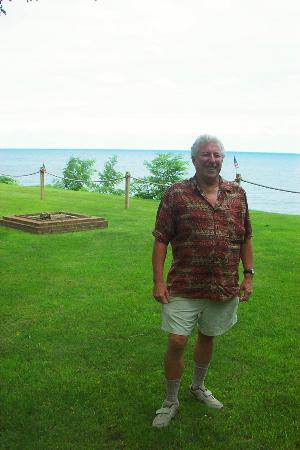 Sodus Point, NY: The view of Lake Ontario from the lawn