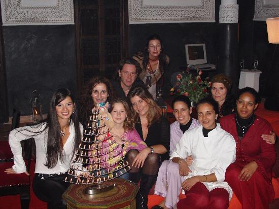 Restaurant La Maison de Marrakech: une fin de soirée avec l'équipe et nous !!!!