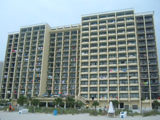 Comp Cove Oceanfront Resort Beach View Of The Pinnacle Building
