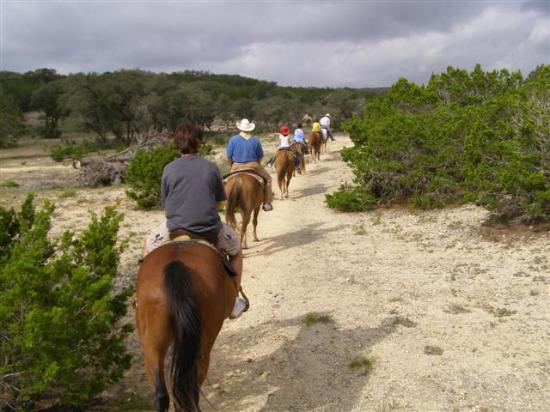 Rancho Cortez: Typical trail ride terrain