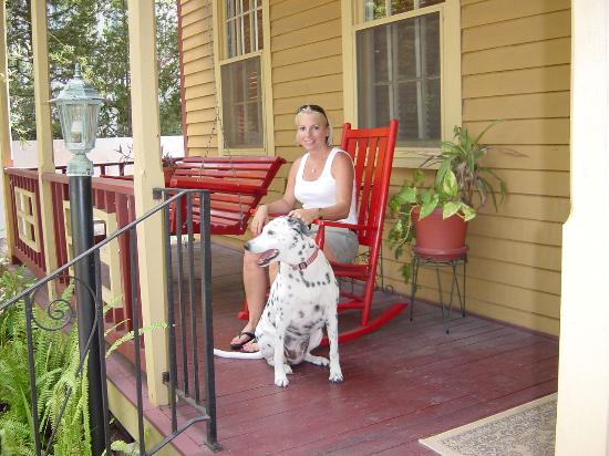 St. Francis Inn Bed and Breakfast : Stripe on the porch at St. Francis