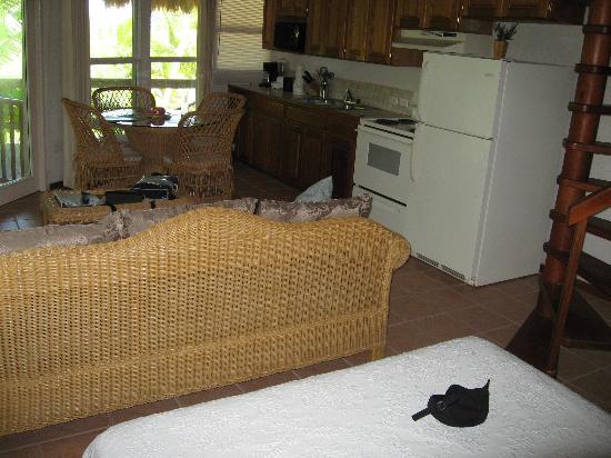 منتجع إكساندو أيلاند: Opposite shot, from bed area to kitchen