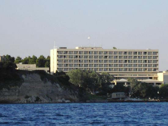 Sani Beach : Hotel from the boat