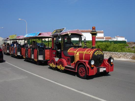 HYB Sea Club: Road train that travels around the resort (7 euros for full trip / 4 euros for half trip)
