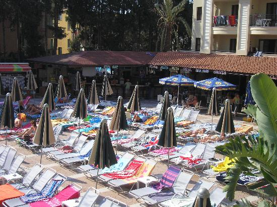 Club Alize: plenty of sun beds!