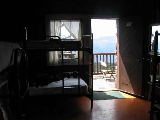 Granite Park Chalet: View from inside room 8.