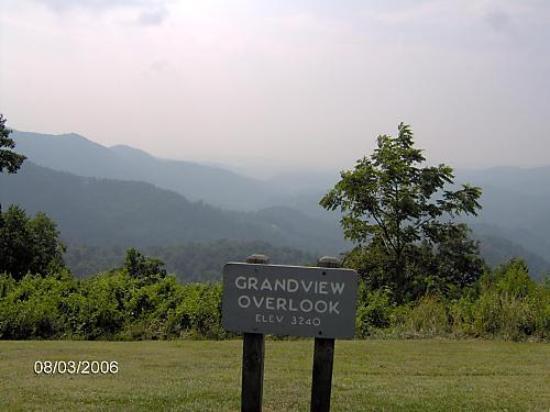 North Carolina Mountains, Karolina Północna: Grandview Overlook on Blue Ridge Parkway