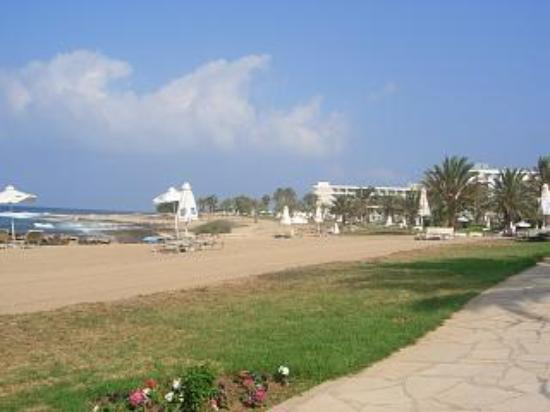 Constantinou Bros Athena Beach Hotel: Looking across toward the Imperial Beach