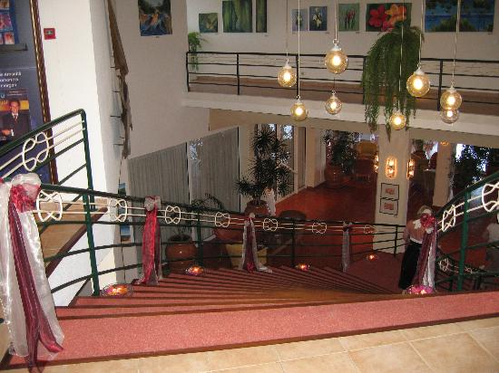 Stairs decorated for the wedding - Picture of Four Views ...