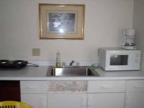 D'Allaire's Motel and Cottages: Kitchen Area