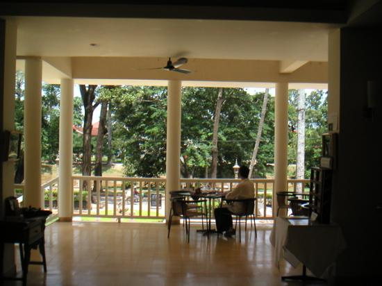 FCC Angkor: Terrace with view at the restaurant