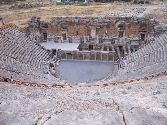 The Roman theatre at Hierapolis - Picture of Hierapolis & Pamukkale ...