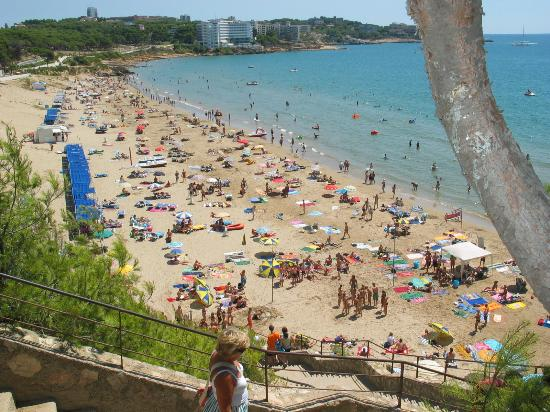 4R Playa Park: the beach (the view from the stairs)