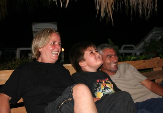 Dalyan Garden Pension : The Happy Hosts - Cathy, Taylan and Ercan