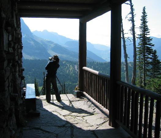 Granite Park Chalet: Looking East From Chalet Front Porch