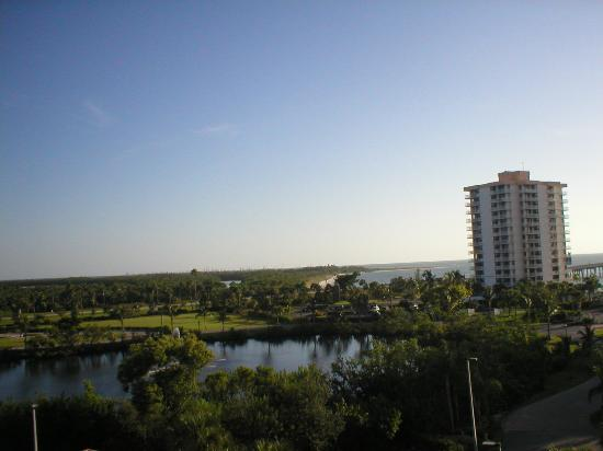 Lovers Key Resort: looking WNW, channel beach and gulf beach